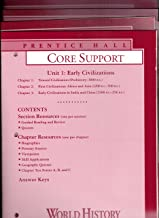 Prentice Hall World History, Connections to Today, 4-Volume Set of Core Support Books, Unit 1 to Unit 5 [Chapters 1 to 17] (Includes Section QUIZZES, CHAPTER QUIZZES, CHAPTER TESTS, and ANSWER KEY)