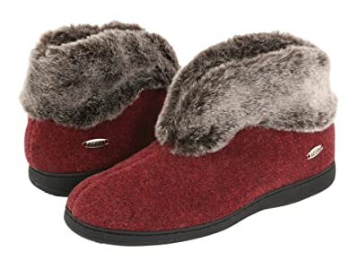 Acorn Faux Chinchilla Bootie II (Crackleberry) Women