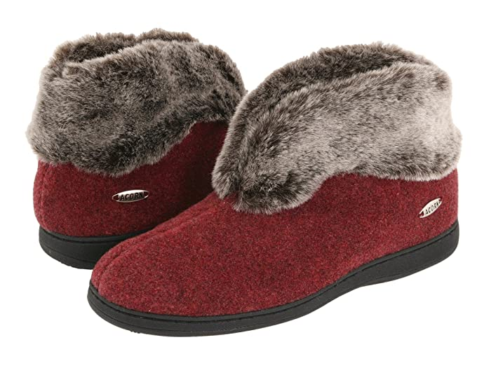 Acorn  Faux Chinchilla Bootie II (Crackleberry) Womens  Boots