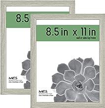 مجموعة من 2 معرض صور MCS Industries MCS Industries MCS 20.32 سم × 27.94 سم، إطار رمادي من الخشب الحبيبي، 20.32 سم × 27.94...