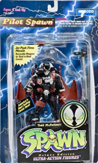 1995 - McFarlane Toys/Todd Toys - Spawn - Pilot Spawn Action Figure - Black & Red - Collectible - Rare