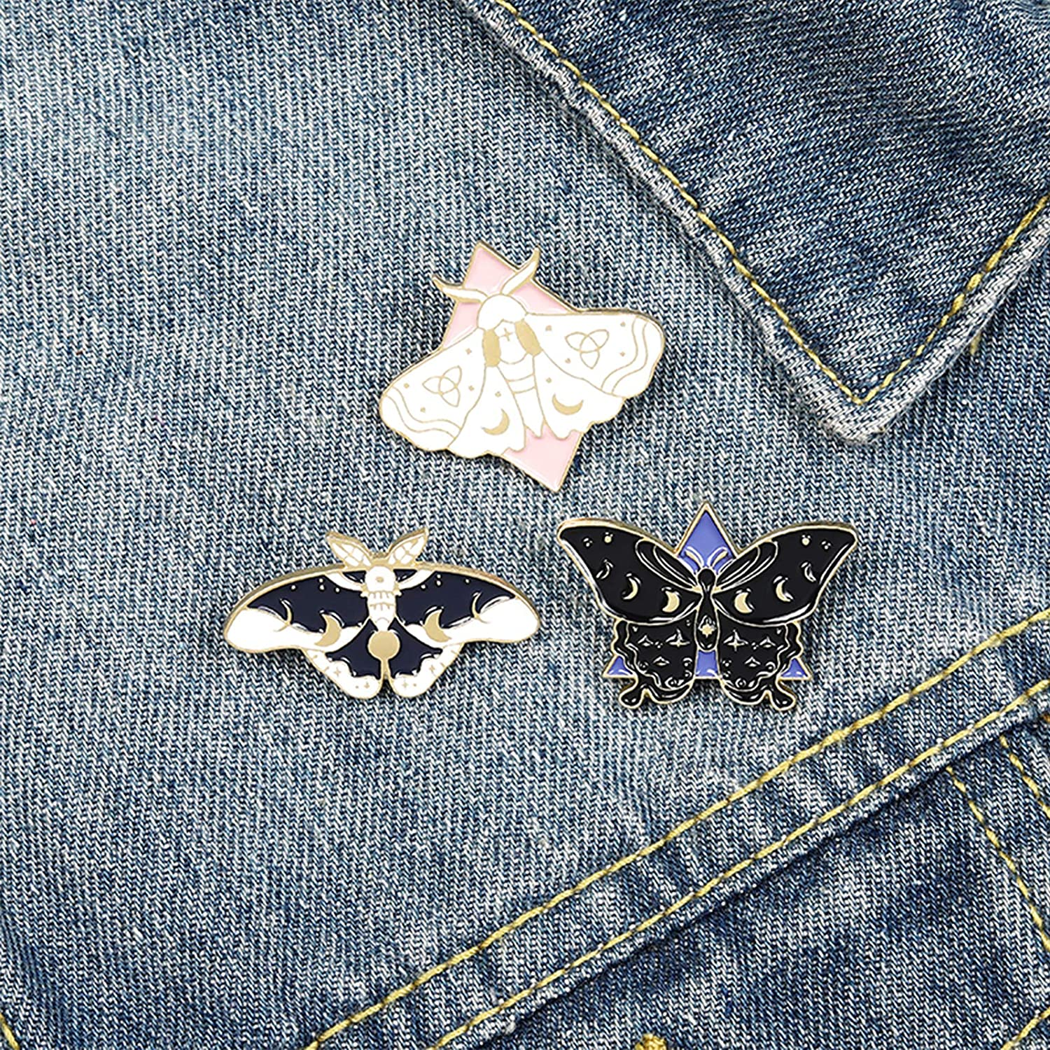 Butterfly Enamel Pins Set Cool Horror Enamel Lapel Pins Brooches for Backpacks Steampunk Badge Jewelry for Women