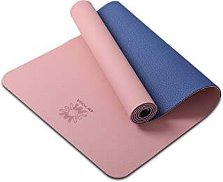 """WWWW PIDO Yoga Mat Eco Friendly TPE Non Slip Yoga Mats by SGS Certified,72""""x24"""" Extra Thick 1/4"""" for Yoga Pilates Fitness Exercise Mat"""
