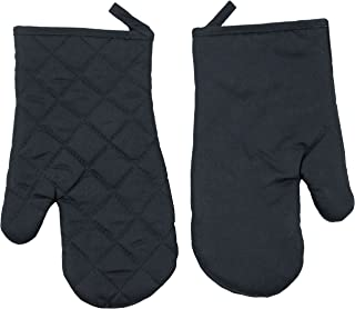 ZOLLNER 2 Guantes para Horno, 100% algodón, 18x25 cm, Negro