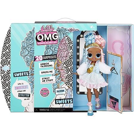 LOL Surprise OMG bambola alla moda SWEETS con 20 sorprese, tra cui vestiti, outfit glamour e accessori alla moda. LOL Surprise OMG Serie 4. Bambola alla moda da collezionare adatta dai 4 anni in su.