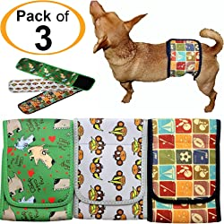 FunnyDogClothes Dog Diaper for Male Belly Band Neoprene Reusable Washable for Small and Big Large Dogs Puppy