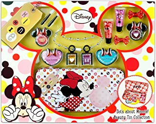 Markwins Disney Minnie Mouse Kids Gift Set–Metallic Beauty Tin with Make-Up Face Paint–Price For 1Each