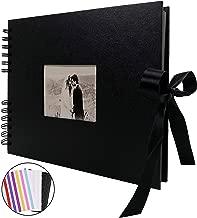 手作り アルバム DIY黒台紙40枚 スクラップブッキング 手作りフォトフレームブック お友達へのプレゼントや結婚式のフォトブック (黒)