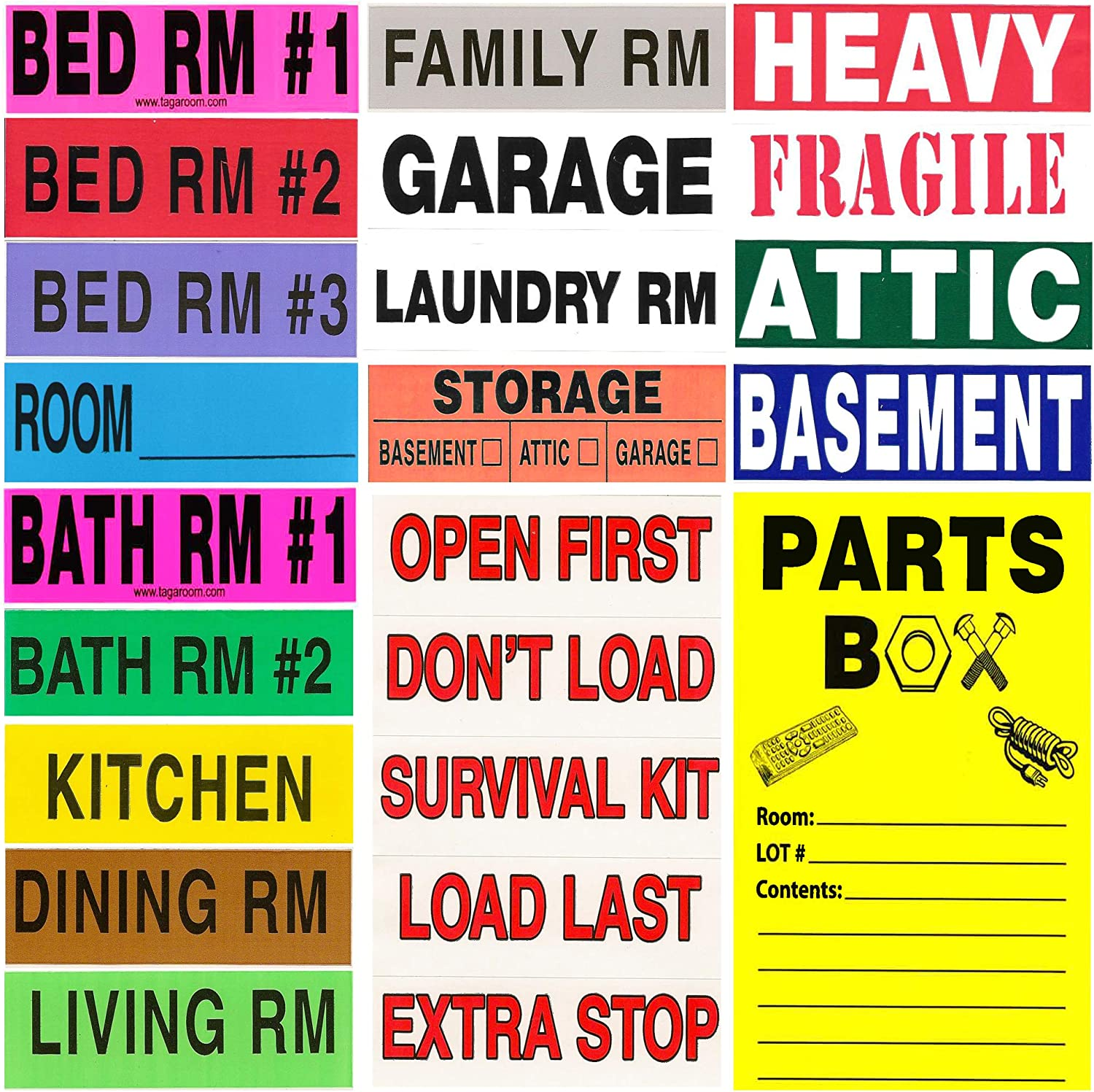 Tag-A-Room Ranking TOP2 Color 2021 spring and summer new Coding Home Moving 950 Bonus with Count Labels