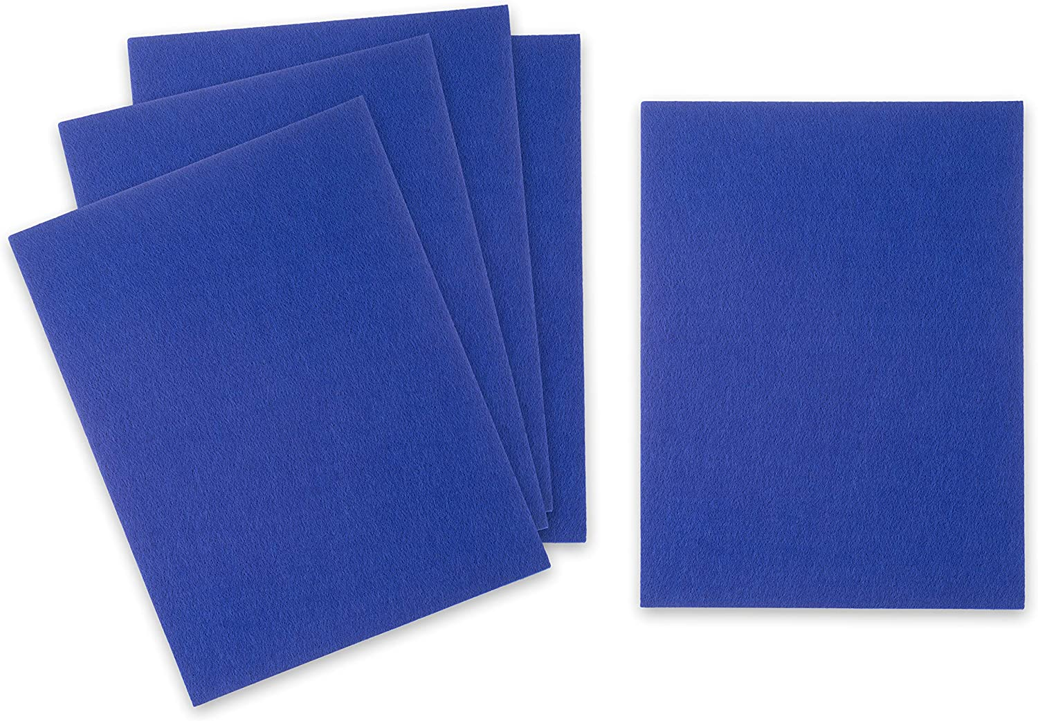 Hard Felt Pieces for Kids Art Projects 5 Pack Stiff Felt Sheets for Crafts Sewing 9x12 inches 3mm Thick Blue Craft Fabric Crafting