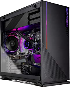 Skytech Azure Gaming PC Desktop - AMD Ryzen 5 3600X 3.8GHz, RTX 3070 8GB, 16GB 3200, 1TB Gen4 SSD, 240mm AIO, 650W Gold PSU, Windows 10 Home 64-bit, Black