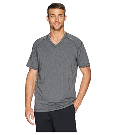 tasc Performance Carrollton V-Neck Tee (Black Heather) Men
