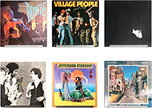 Hudson Hi-Fi LP Vinyl Record Wall Display | Six Pack | Display Your Daily Listening in Style | Grey