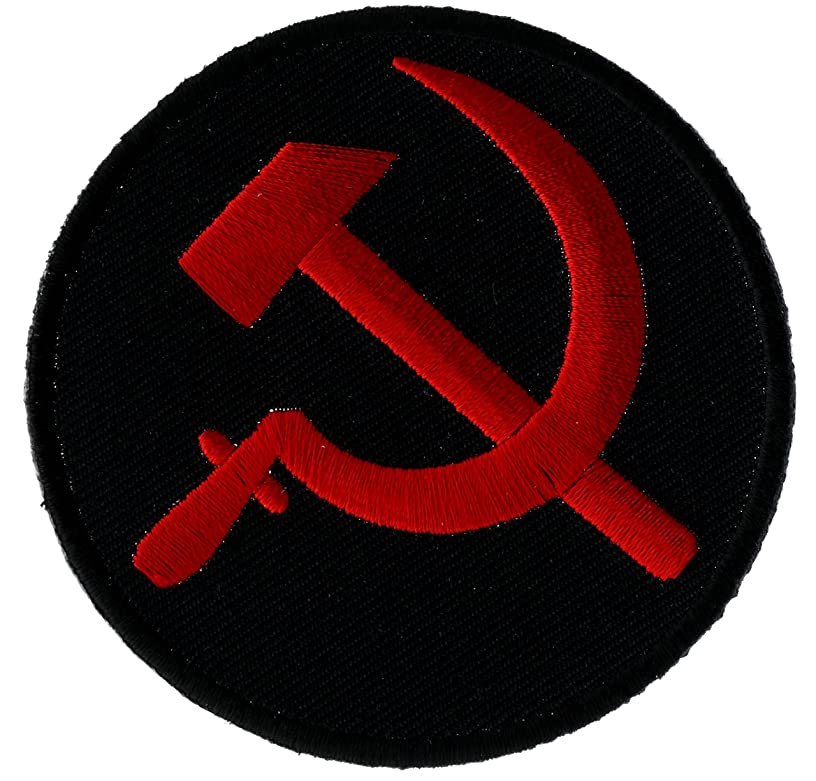 Russian Russia Red Hammer & Sickle on Black Patch 3 inch IVANP5458