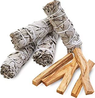 Smudge Kit Refill - White Sage & Palo Santo for Smudging, Healing, Purifying, Meditating & Incense