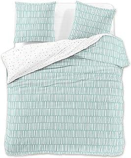DecoKing Premium - Juego de ropa de cama, de algodón, con cremallera, colección Ducato, algodón, menta, 160 x 200 + 70 x 80 *2