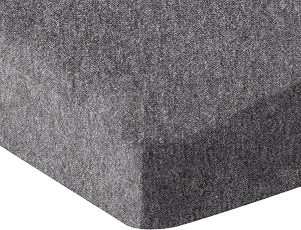 AmazonBasics Heather Jersey Fitted Crib Sheet Bedding Dark Grey