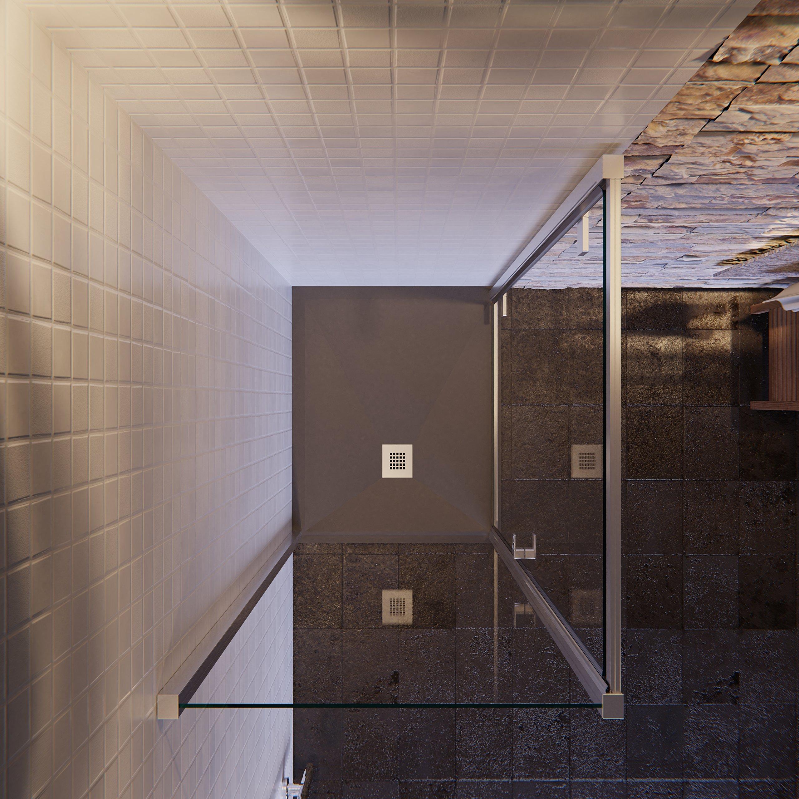 Olimpo duchas ga-70 X 70 ducha cabina 6 mm diseño puerta aldaba ...