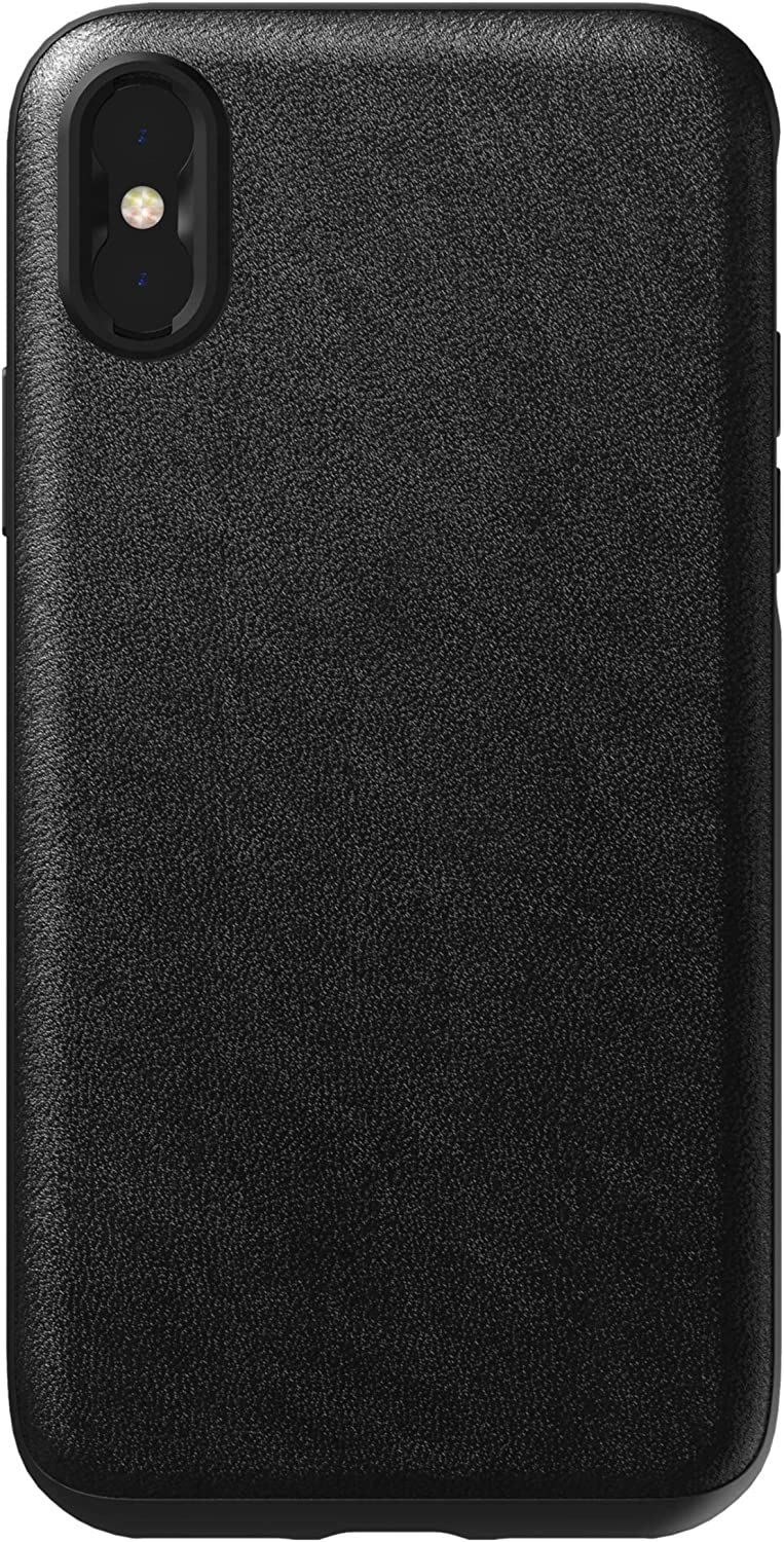 Nomad Rugged Case for iPhone Xs | Moment Lens Edition | Black Horween Leather