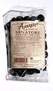 Amarelli - Regaliz Senatori - Caramelos De Regaliz Con Violeta - 100 gr