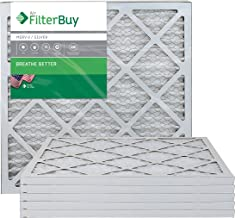 FilterBuy 20x22x1 MERV 8 Pleated AC Furnace Air Filter, (Pack of 6 Filters), 20x22x1 – Silver