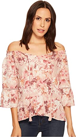 Miss Me Off Shoulder Bell Sleeve Top