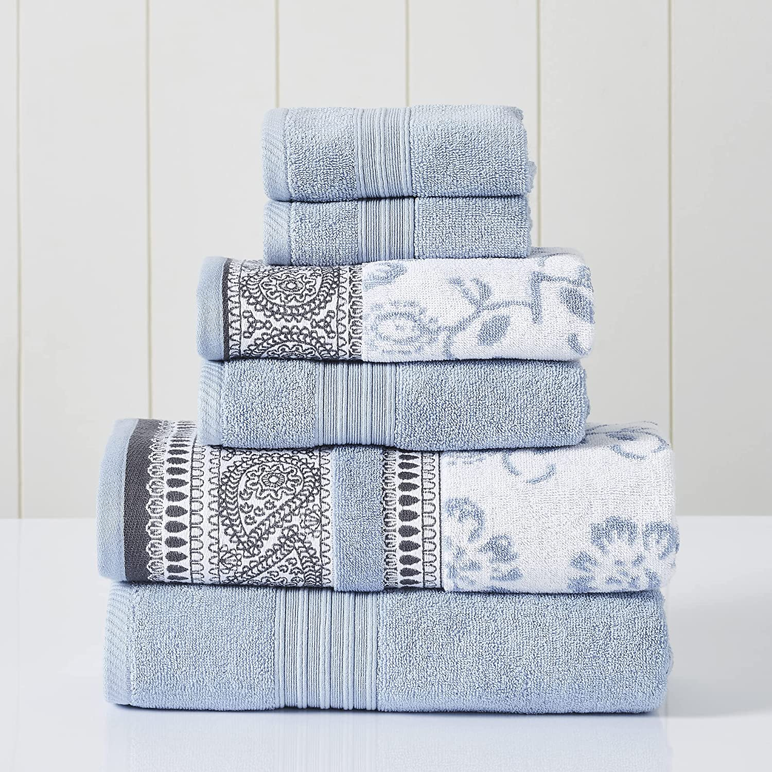 Modern Threads 6-Piece Yarn Dyed Jacquard Solid Washington Mall Super Special SALE held Opheli Towel Set