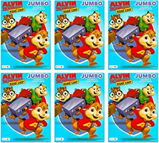 Alvin and the Chipmunks Coloring and Activity Book Party Favors Pack ~ Set of 6 Alvin and the Chipmunks Coloring Books (Alvin and the Chipmunks Party Supplies)