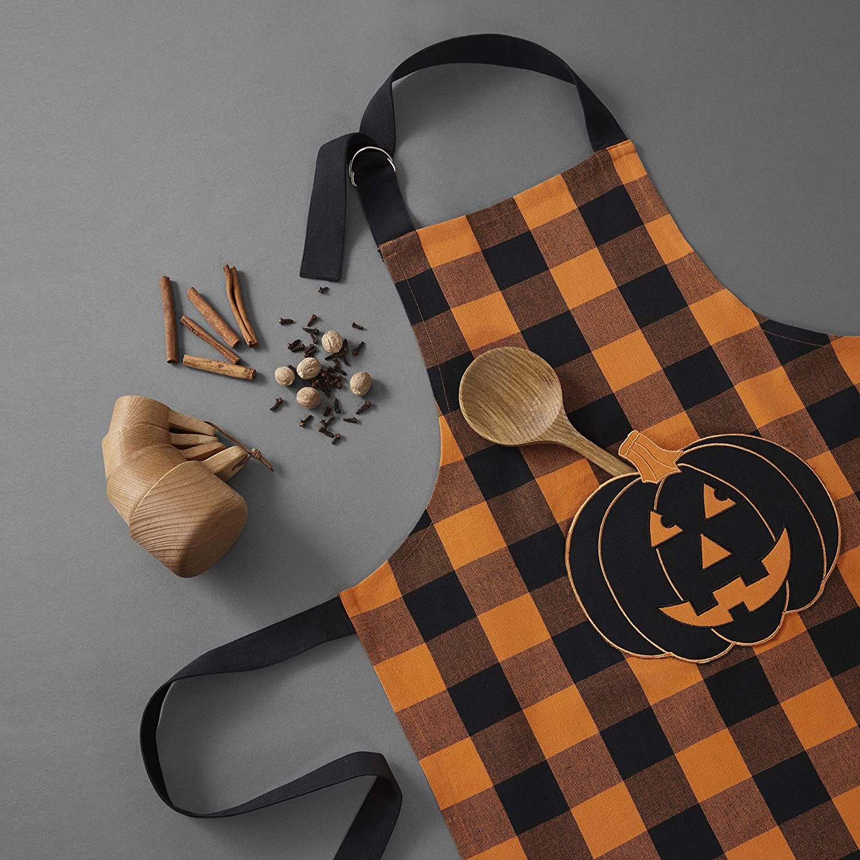 Elrene Home Fashions Farmhouse Living Check Fall Online limited product Pumpkin Latest item Buffalo