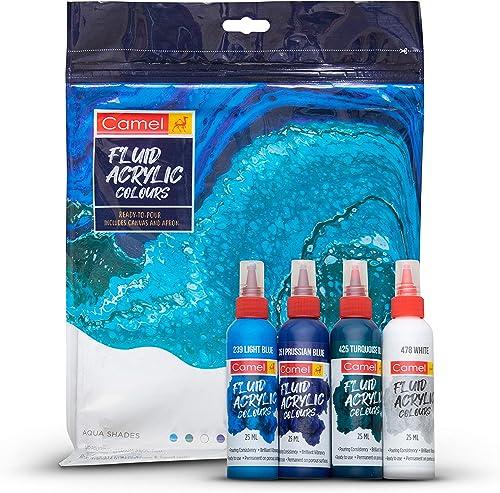Camel Fluid Acrylic Kit - Aqua Series