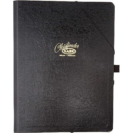 Saro 30-N - Carpeta clasificador (12 departamentos) color negro