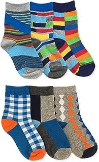 Boys Fashion Crew Socks 6 Pair Pack