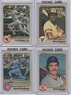1983 Fleer Baseball Complete Set 1-660. Wade Boggs, Ryne Sandberg, Tony Gwynn Rookie Cards & Many Hall of Famers