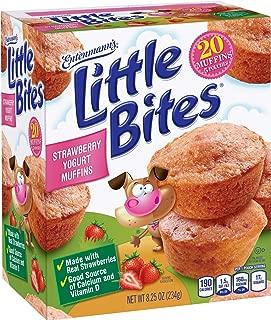 Entenmann's   Little Bites   STRAWBERRY YOGURT MUFFINS   Delicious   Yummy    Tasty     5 Pouches with 4 muffins each     Total 20 Muffins   8.25 oz   (1 Box)  