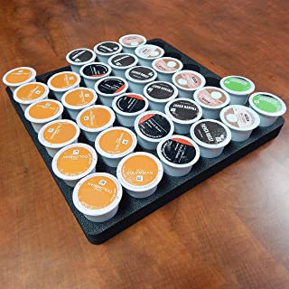 Polar Whale Coffee Pod Storage Organizer Tray Drawer Insert for Kitchen Home Office Waterproof Washable Made in USA 12.5 X 12.5 X 1 Inches Holds 36 Compatible with Keurig K-Cup