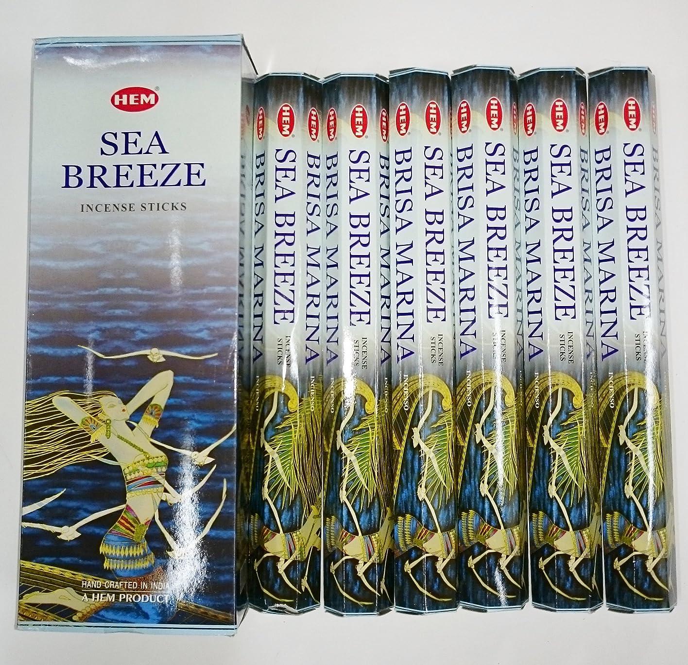HEM (ヘム) インセンス スティック へキサパック シーブリーズ 6角(20本入)×6箱 [並行輸入品]SeaBreeze