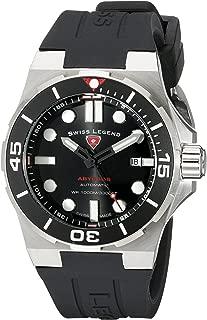 Men's 10062A-01-SM-RDB Abyssos Analog Display Swiss Quartz Black Watch