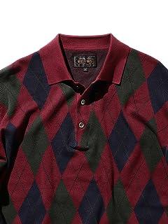 Argyle Wool Polo Sweater 38-12-0002-156: Burgundy