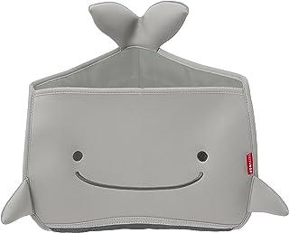 Skip Hop Moby Bath Toy Organizer for Babies and Toddlers, Corner Bath Tub Storage, Grey