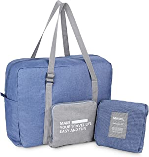 Luxtude Large Duffle Bag with Adjustable Strap, 30L Foldable Airlines Travel Duffel Bag, Lightweight Gym Sports Overnight Weekend Carry-on Tote Luggage Duffel for Men and Women (Blue)