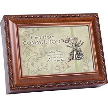 Cottage Garden First Communion Inspirational Italian Inspired Music Box Plays Ave Maria