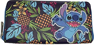 Disney Lilo And Stitch Stitch Tropical Zip Around Wallet