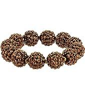 Bronze Pave Ball Stretch Bracelet