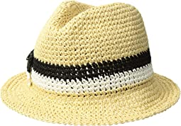 Kate Spade New York Crochet Bicolor Bow Trilby