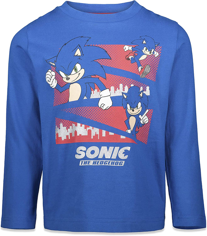 SEGA Sonic The Hedgehog Boys 2 Pack Long Sleeve Graphic T-Shirts