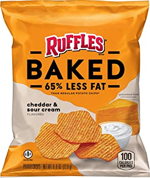 40 Count Lay's Baked Ruffles Cheddar Sour Cream