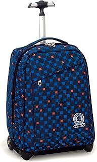 8620557e8ebfac Trolley Invicta , CHECK , Blu Rosso , 35 Lt , 2in1 Zaino con spallacci a