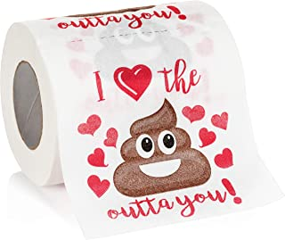 Maad Romantic Novelty Toilet Paper - Funny Gag Gift for Valentine's Day or Anniversary Present