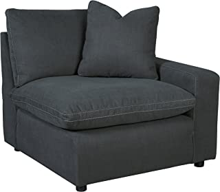 Signature Design by Ashley - Savesto Contemporary Right Arm Facing Corner Chair - Standalone or Sectional Component, Charcoal