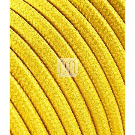 lampade 1MT Il cavo elettrico diventa design Cavo elettrico 2x0,75 Tondo rivestito in tessuto color Bianco per lampadari abat jour